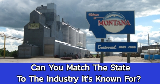 Can You Match The State To The Industry It's Known For?