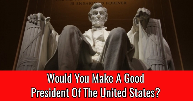 Would You Make A Good President Of The United States?