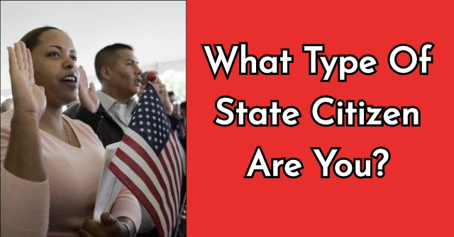 What Type Of State Citizen Are You?