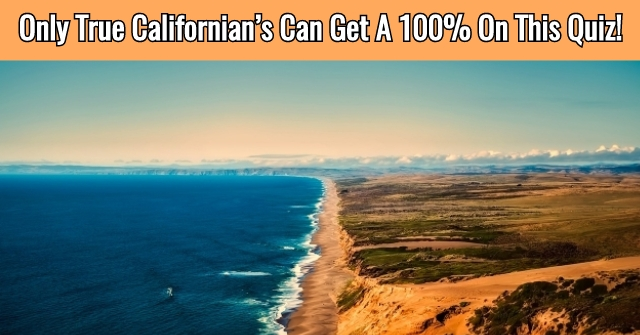 Only True Californian's Can Get A 100% On This Quiz!