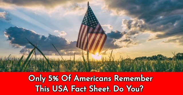 Only 5% Of Americans Remember This USA Fact Sheet. Do You?
