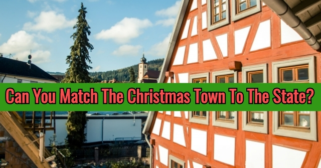 Can You Match The Christmas Town To The State?