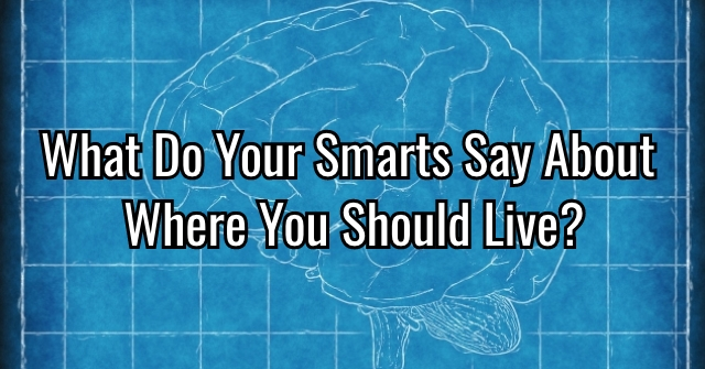 What Do Your Smarts Say About Where You Should Live?