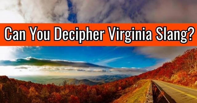 Can You Decipher Virginia Slang?