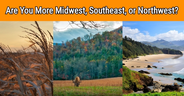 Are You More Midwest, Southeast, or Northwest?
