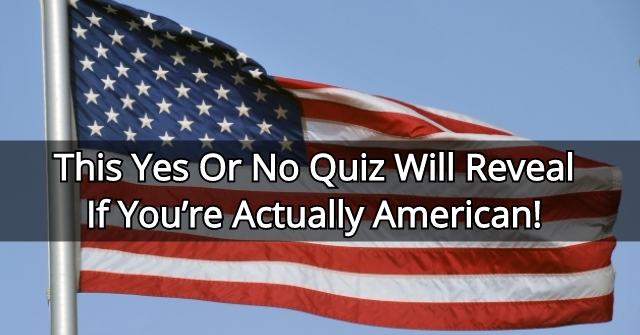 This Yes Or No Quiz Will Reveal If You're Actually American!