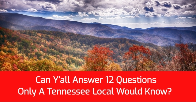 Can Y'all Answer 12 Questions Only A Tennessee Local Would Know?