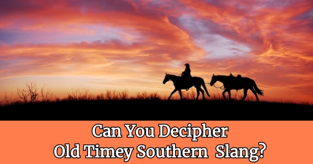 Can You Decipher Old Timey Southern Slang?
