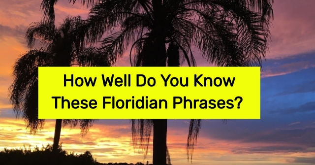 How Well Do You Know These Floridian Phrases?